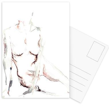NUDE 6 cartes postales