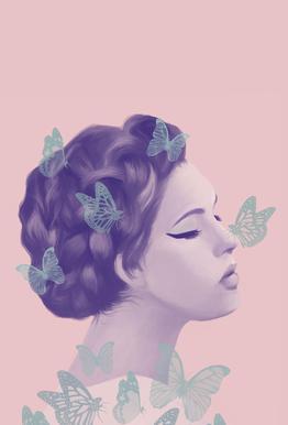 Butterflies acrylglas print