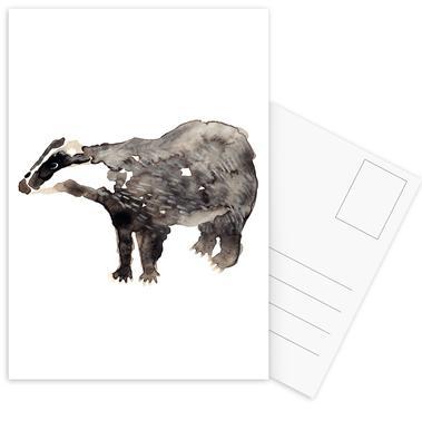 Badger Postcard Set
