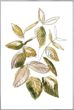 Leaves 02 -Poster im Alurahmen