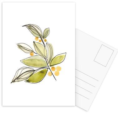 Leaves 03 Postcard Set
