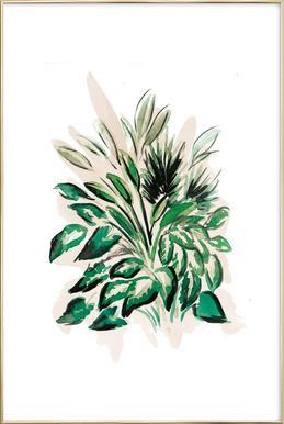 Plants 02 -Poster im Alurahmen