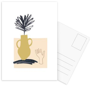 Plants in Vases 02 Postcard Set