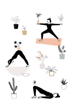 Yoga With Plants 04 -Alubild