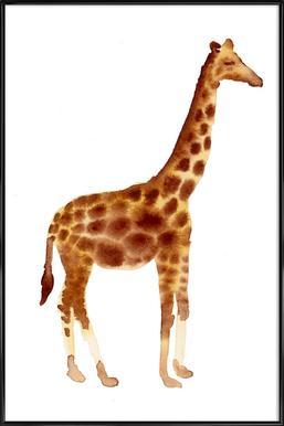 Giraffe affiche encadrée
