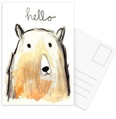 Hello Bear Postcard Set
