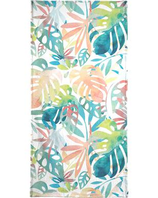 Jungle Leaves Light Beach Towel