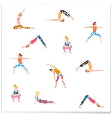 Yoga People -Poster