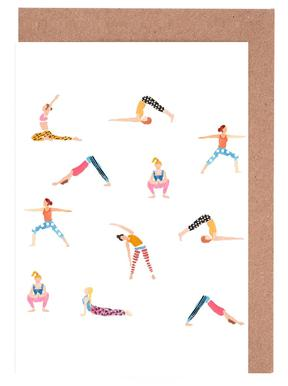 Yoga People Greeting Card Set