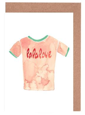 Lalalove Shirt wenskaartenset