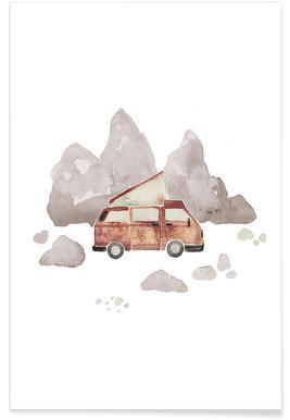 Adventure Van Rocks Poster