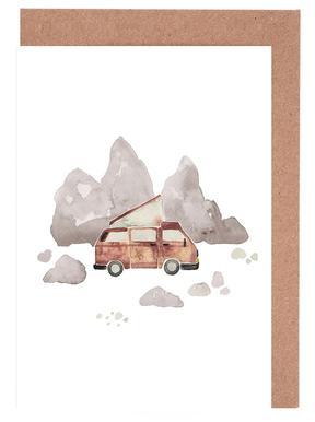 Adventure Van Rocks -Grußkarten-Set