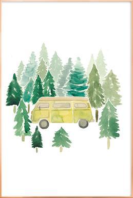 Adventure Van Woods poster in aluminium lijst