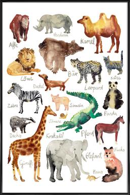 The Animal Kingdom -Bild mit Kunststoffrahmen