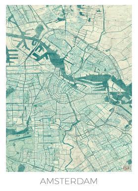 Amsterdam Vintage canvas doek