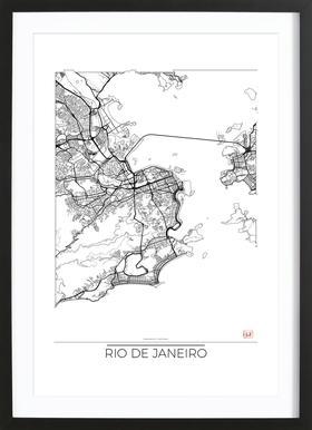 Rio de Janeiro Minimal Framed Print