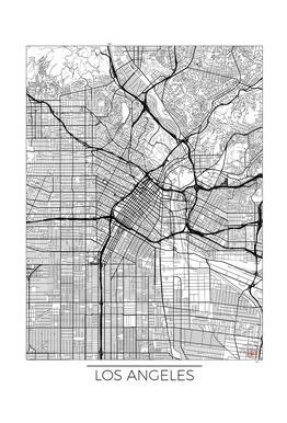 Los Angeles Minimal -Acrylglasbild