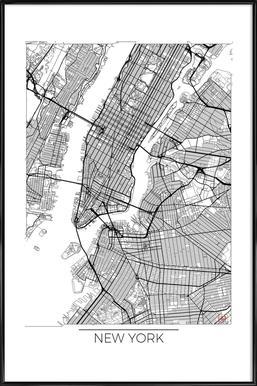 New York Minimal Framed Poster