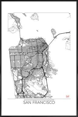 San Francisco Minimal Framed Poster