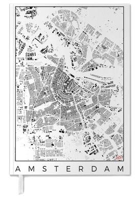 Amsterdam Map Schwarzplan -Terminplaner