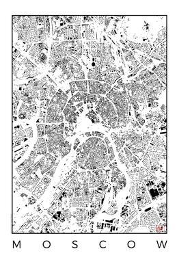 Moscow Map Schwarzplan