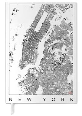 New York Map Schwarzplan -Terminplaner