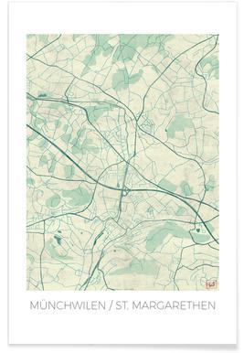 Munichwilen Vintage Map Poster