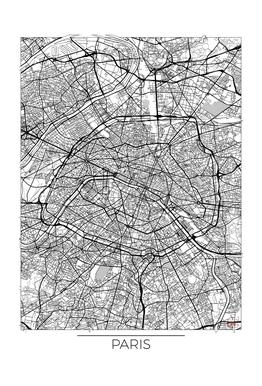 Paris Minimal Impression sur alu-Dibond