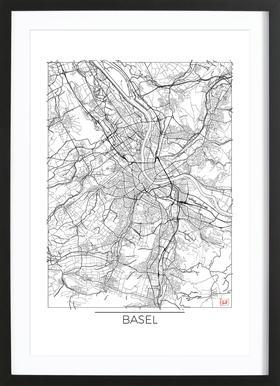 Basel Minimal Framed Print