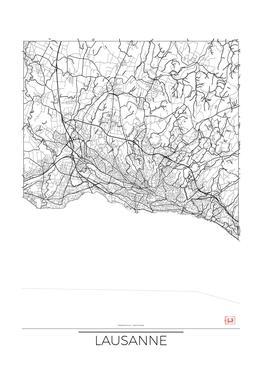Lausanne Minimal Impression sur alu-Dibond