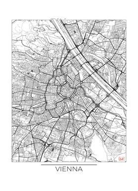 Vienna Minimal -Leinwandbild