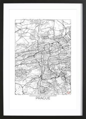 Prague Minimal Framed Print
