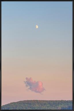 Forest Cloud Moon Poster i standardram