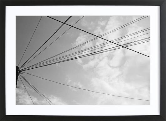 Power pole 2 ingelijste print