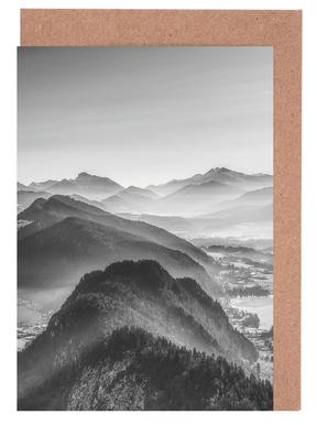 Balloon Ride over the Alps 3 Greeting Card Set