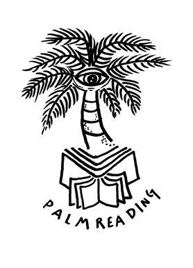 Palm Reading White Canvas Print