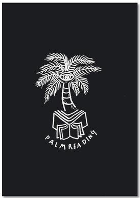 Palm Reading Black -Notizblock