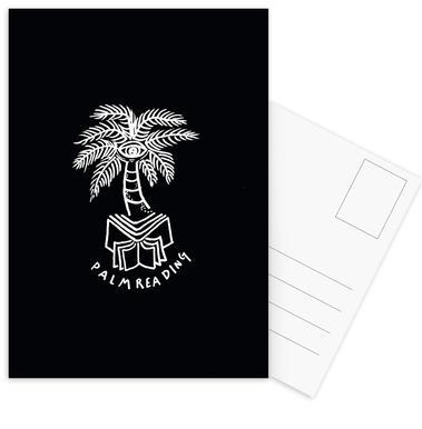 Palm Reading Black Postcard Set