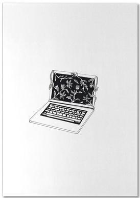 Leave Laptop -Notizblock