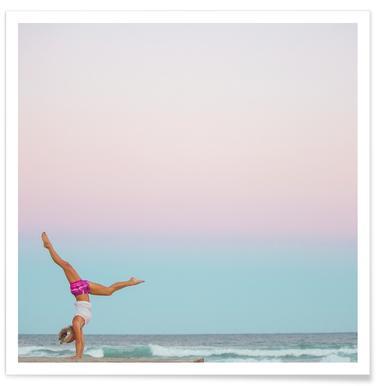 Beach Yoga - Premium Poster