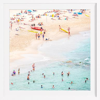 Beach - Poster im Holzrahmen
