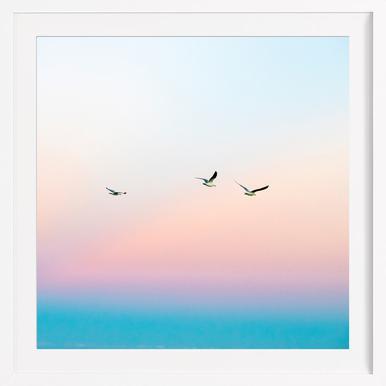 Skyporn - Poster in Wooden Frame