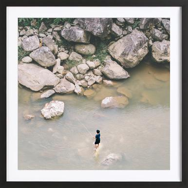 Fishing in Sapa Framed Print