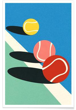 3 Tennis Balls Poster