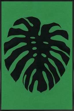 Black Monstera Plakat i standardramme