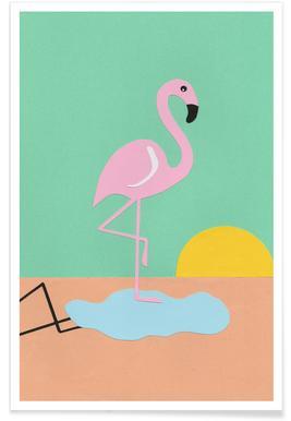 Flamingo Herbert - Premium Poster