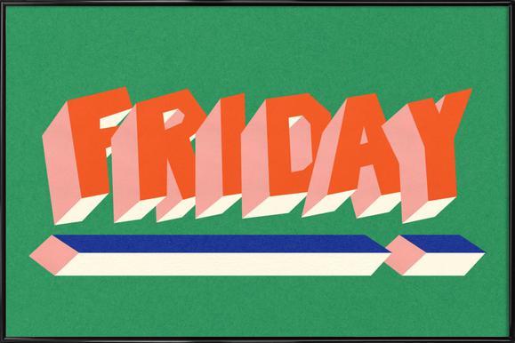 FRIDAY! -Bild mit Kunststoffrahmen