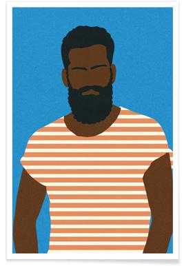 Man with Striped Shirt Plakat