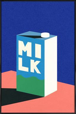 MILK -Bild mit Kunststoffrahmen