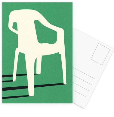 Monobloc Plastic Chair No III Postcard Set